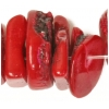 Bamboo Natural Coral Dyed 10-15mm